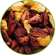 Gently dried fruits on baking paper