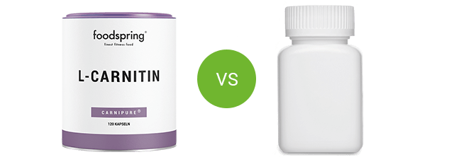 foodspring L-carnitine vs. competitor product