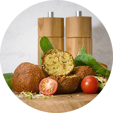 Protein Falafel with Protein Flakes.